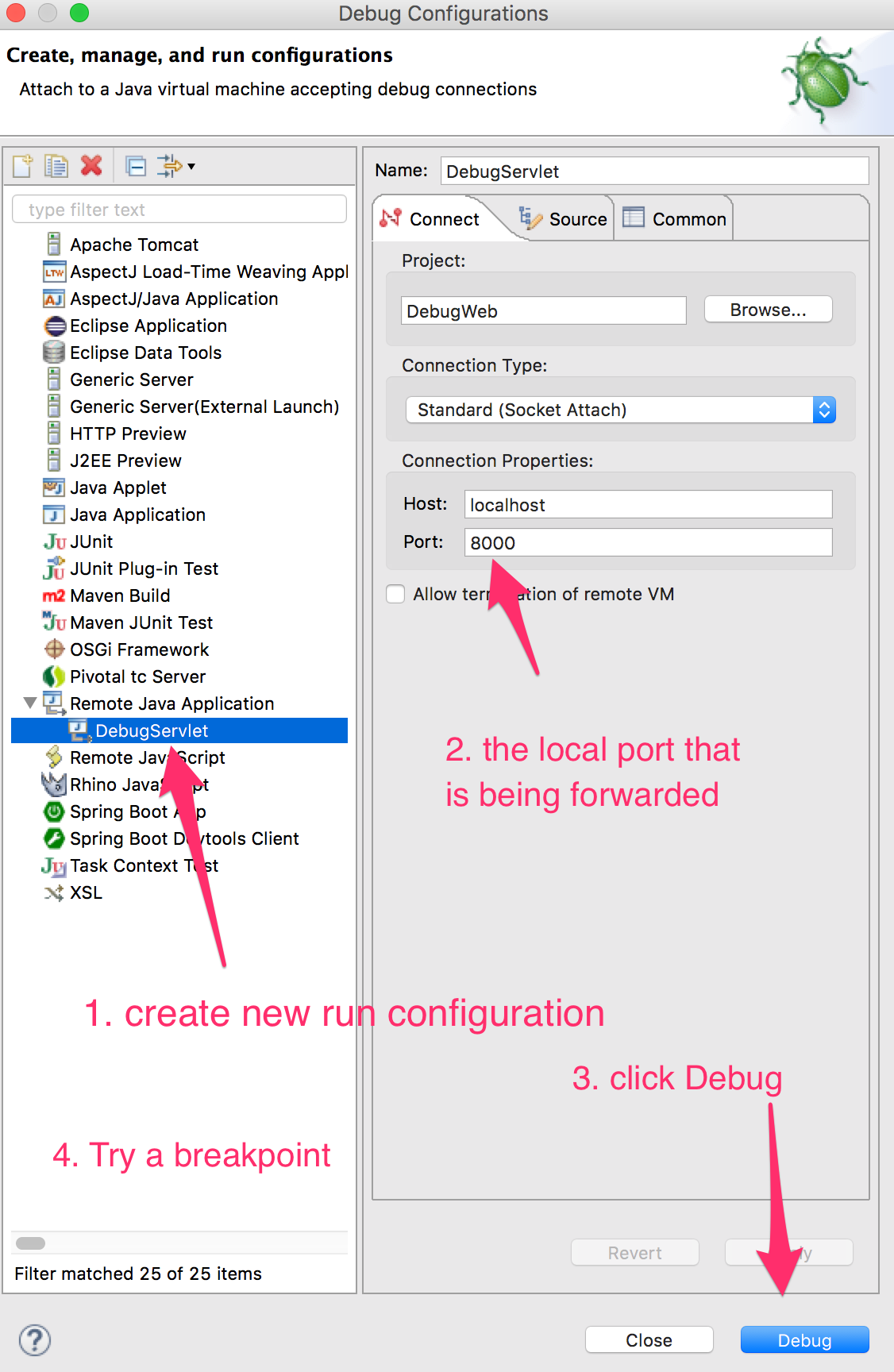 Eclipse Remote Debug Configuration